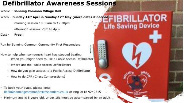 defibrillator awareness sessions