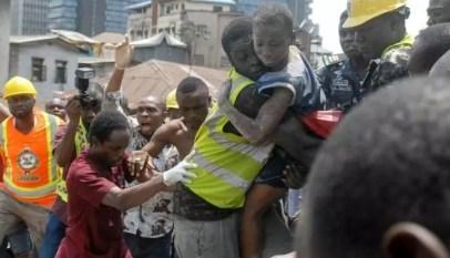 effondrement d'un immeuble au nigéria