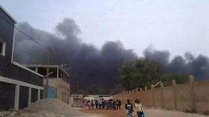 incendie 300x169 Urgent: Incendie à la Zone Franche Industrielle de Mbao (photos)
