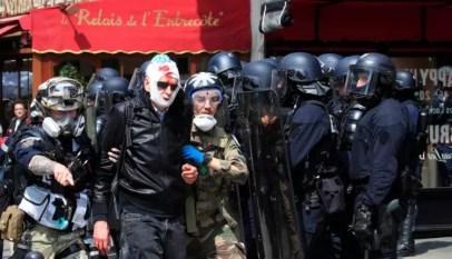 France: Manifestation 1er mai, déjà des blessés et des arrestations