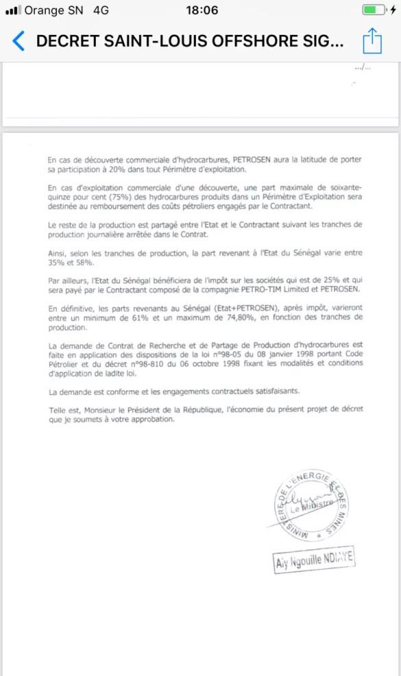 contrat de pétrole 2 178x300 Feuilleton du Pétrole au Sénégal: un document vient allonger la liste des ....