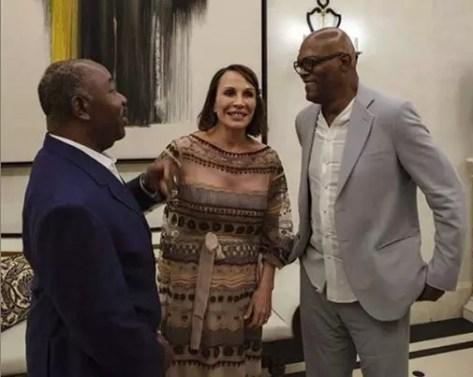 bongo 300x239 Gabon: Annoncé mort, Ali Bongo apparaît sur une photo avec Samuel Jackson