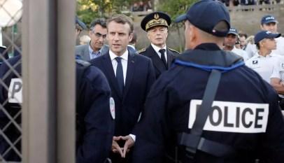 G7: La police française furieuse contre Macron