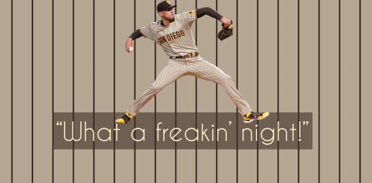 """""""What a freakin' night!"""" Joe Musgrove's no-hitter"""