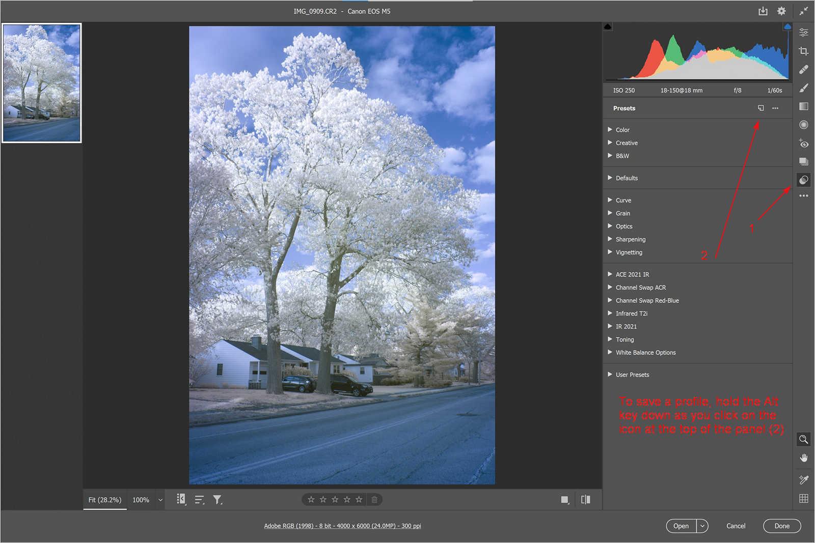 ACR Create a Camera Profile