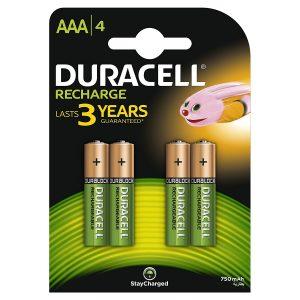batterie duracell AAA 750mah