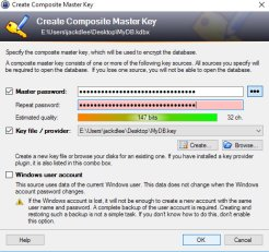 Gestire le password con KeePass - Generazione KeyMaster