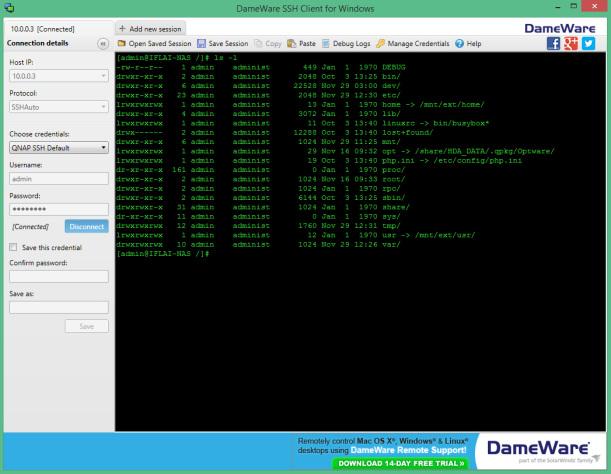 DameWare SSH Client