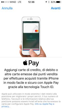 Apple pay condizioni
