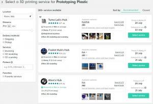 stampa 3d online - 3dhubs stampatori