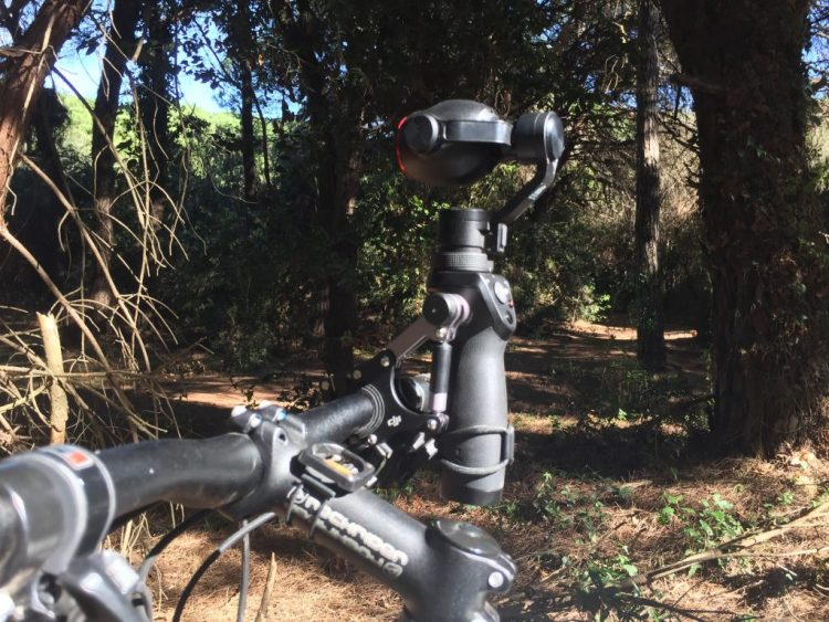 Osmo Bike Mount - vista laterale