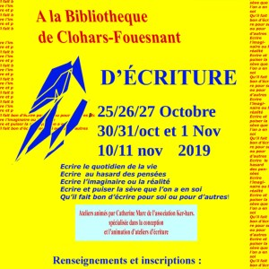 weekend d'écriture Vac. de Toussaint 2019