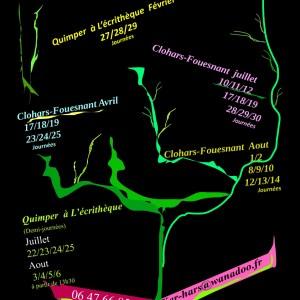Weekend d'écriture 2020 à Clohars-Fouesnant et Quimper