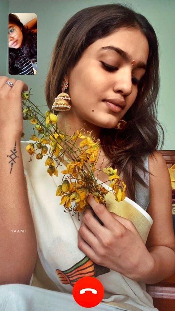 saniya iyappan vishu celebration pics