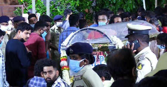 Meghana Raj Husband Chiranjeevi Sarja Funeral Photos 001