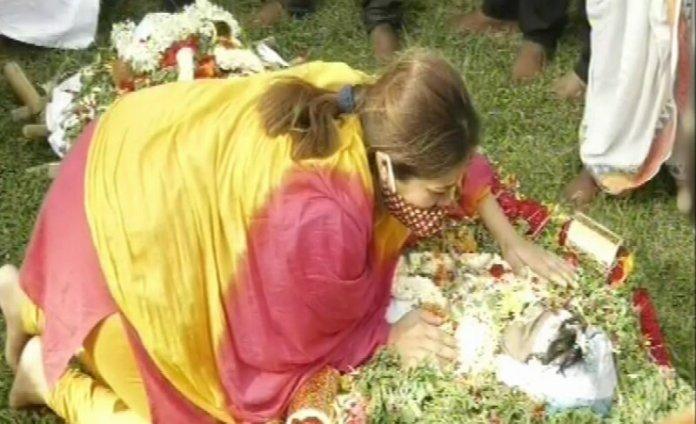 Meghana Raj Husband Chiranjeevi Sarja Funeral Photos 013