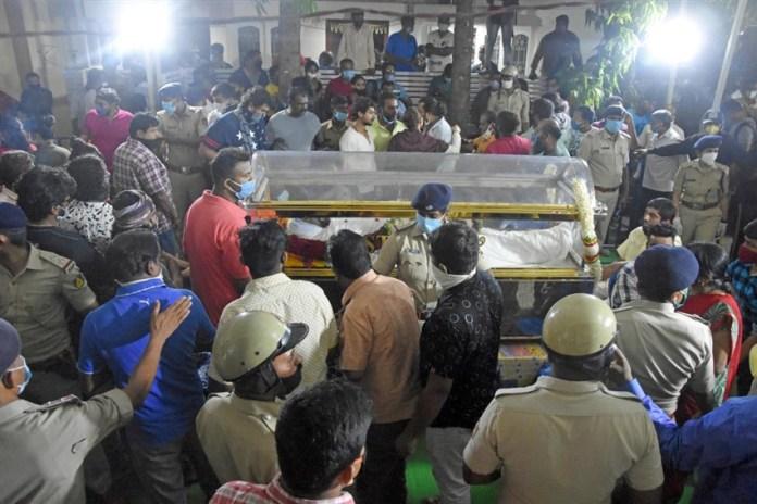 Meghana Raj Husband death Photos 002