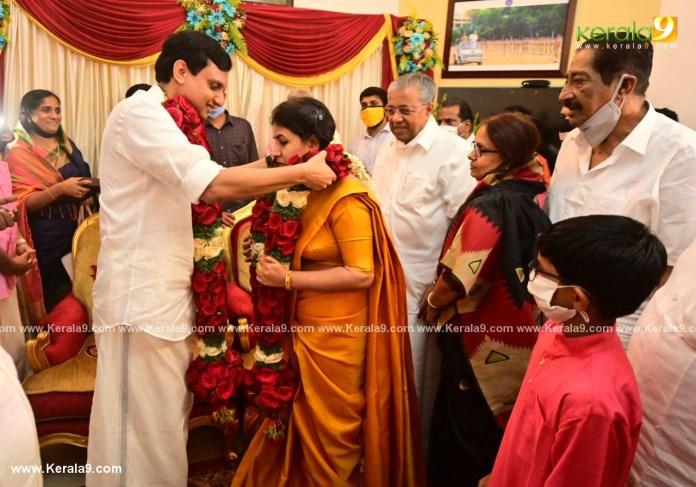 pinarayi vijayan daughter marriage photos 002