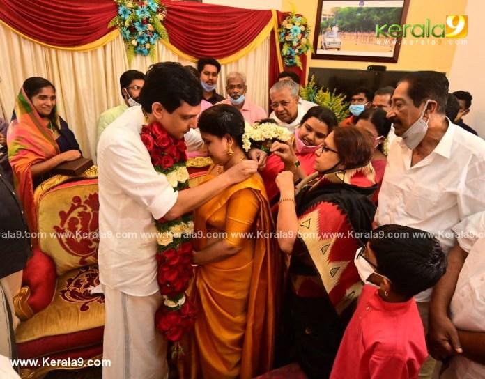 pinarayi vijayan daughter wedding photos