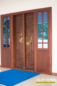 traditional kerala front door designing