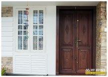 Wooden Front Door Designs in Kerala