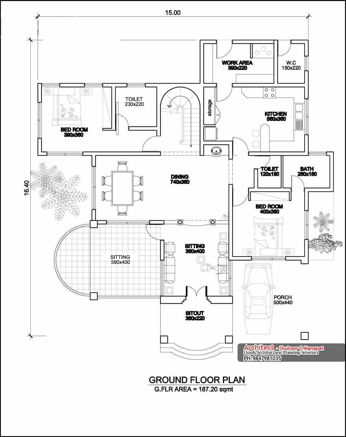 Two Storey Four Bedroom House Design at 3236 Sq.Ft (With Plan)