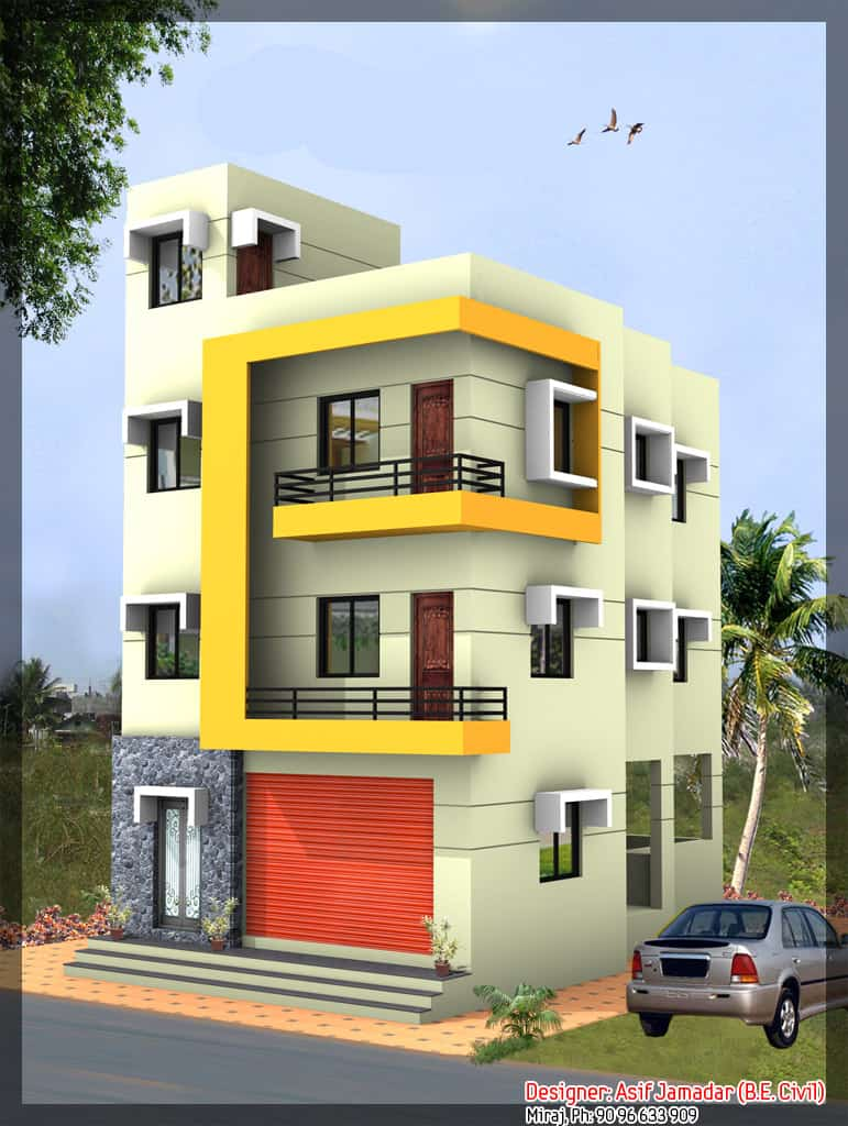 Latest 3 Storey House Design At 1890 Sq Ft