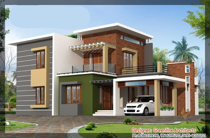 Modern New Home Elevation At 1915 Sqft 24 Lakhs Estimate