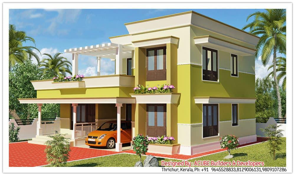 Two Storey Kerala House Designs KeralaHousePlanner