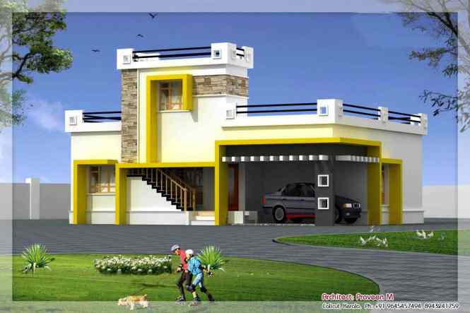 Awesome Tamilnadu Style Single Floor Home Design Contemporary