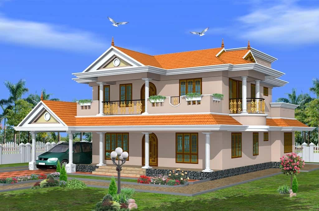 Kerala home design in traditional style at 2475 sqft