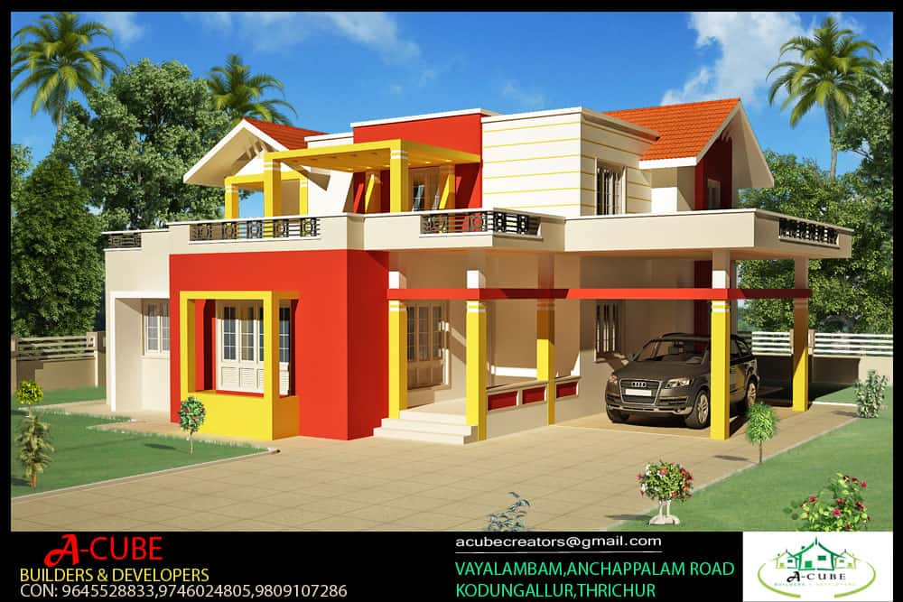 Kerala Style 4 Bedroom Home Plan At 2000 Sq Ft