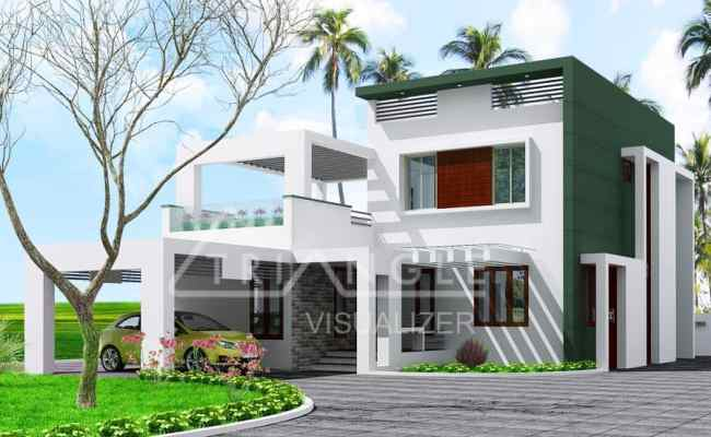 Modern Contemporary Kerala House Elevation At 1950 Sq Ft