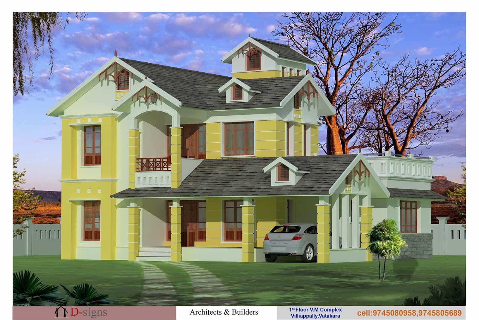 Kerala home plan small house elevation at sq ft