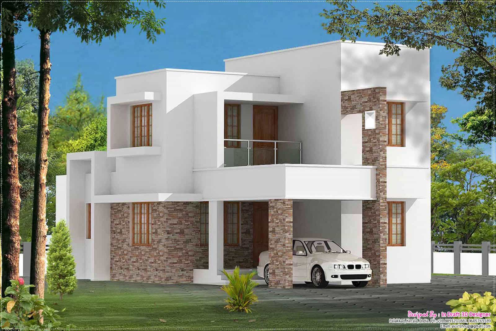 3 Bedroom Contemporary Kerala Home At 1680 Sq Ft
