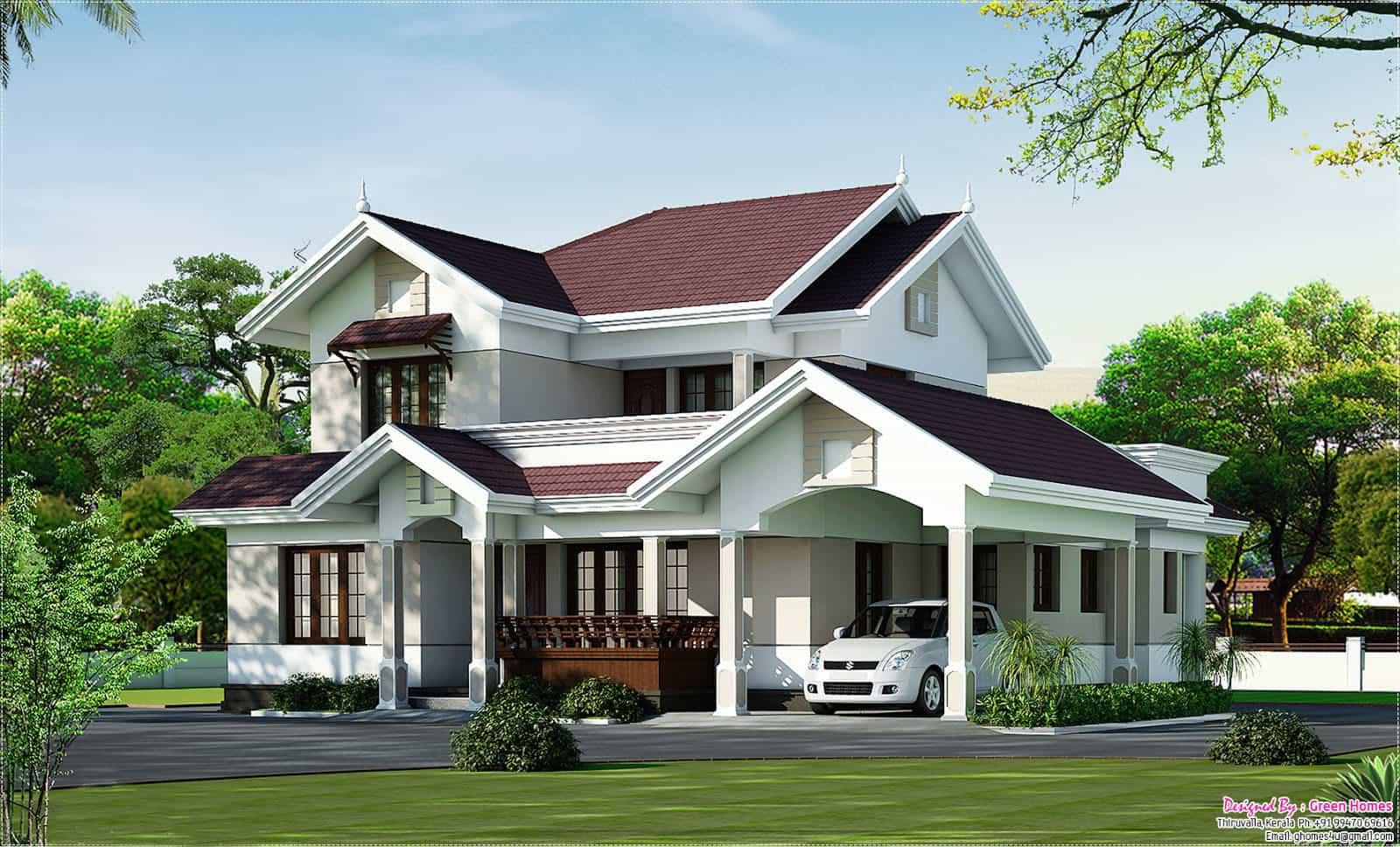 Latest Kerala Home Design At 2000 Sq Ft