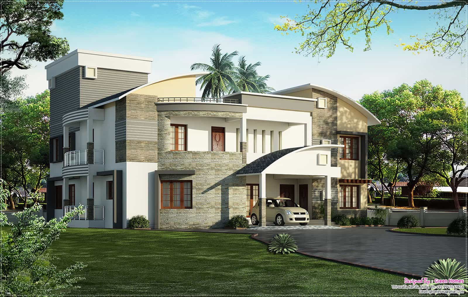 Latest Kerala House Model At 4400 Sq Ft