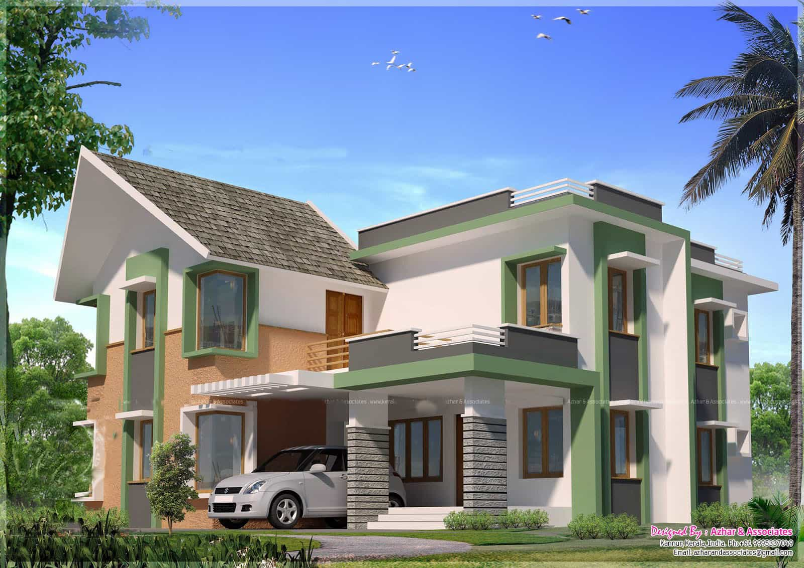 Kerala House Model Exterior Design At 2860 Sq Ft