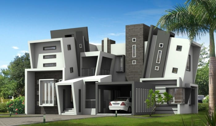 Unique Kerala style home design with Kerala house plans attached