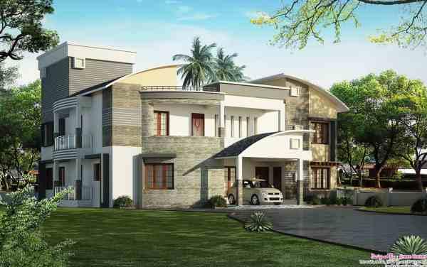 Unique House Design - Keralahouseplanner