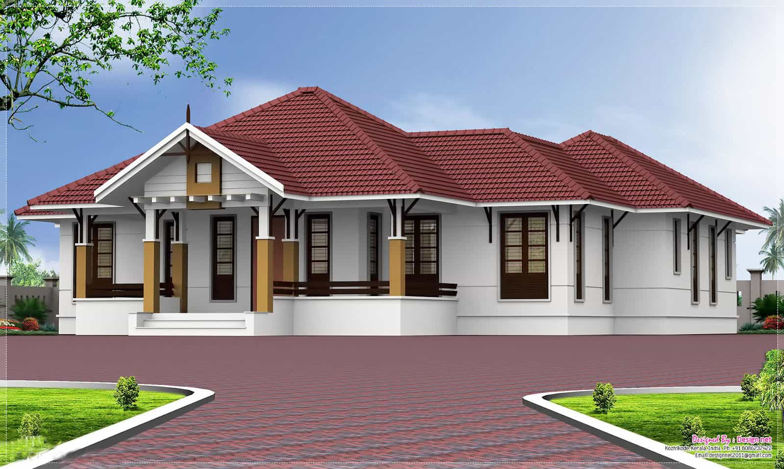 Single Storey Kerala Home Design At 2000 Sq Ft