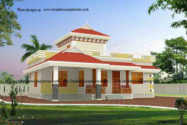 Budget Beautiful Kerala House Design 1195 Sq.ft