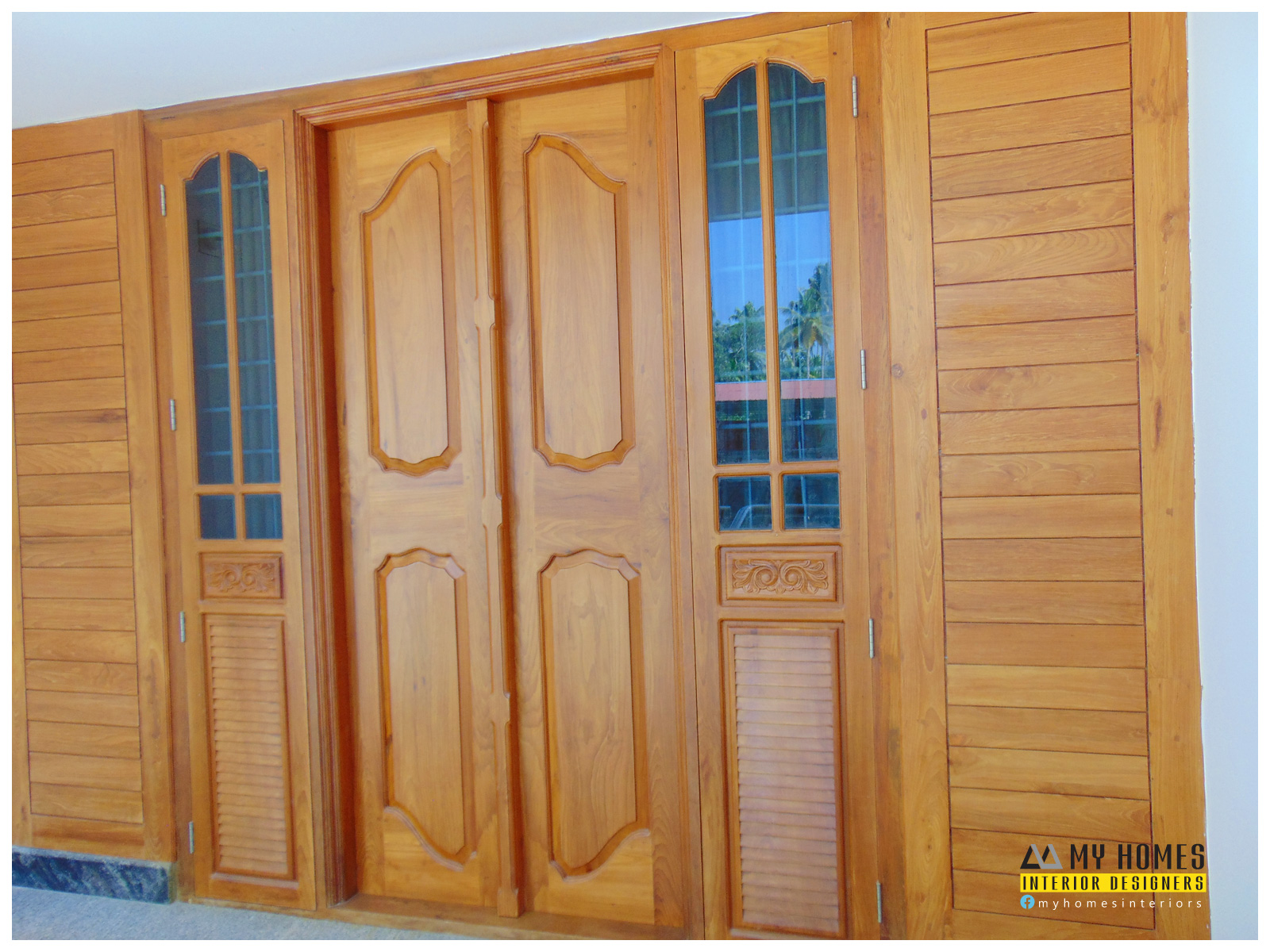 wooden door style in kerala door designs photosm images