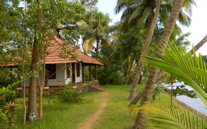 Coconut Island - Island Resort in the Kerala Backwaters.