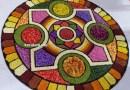 Onam Pookalam Design 45