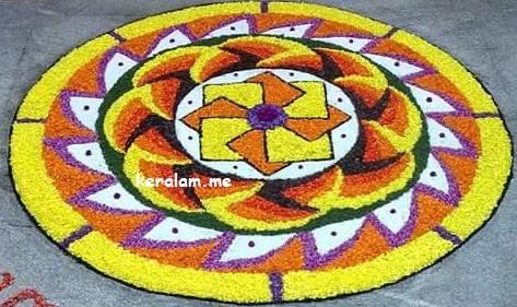 Onam Pookalam Design 70