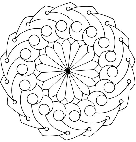 Onam Pookalam outline Design - 8, onam