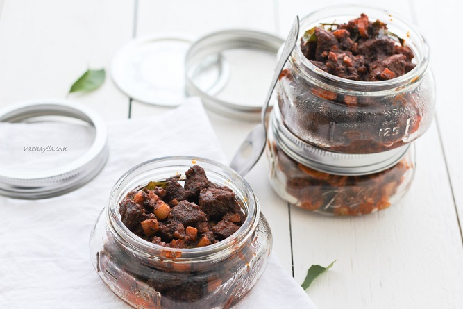 Recipe for Nadan Erachi/ Irachi Achar - Kerala Style Dry Beef Pickle