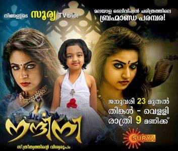 nandini malayalam tv serial on surya tv   23rd january