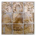 Будда, керамическая плитка.